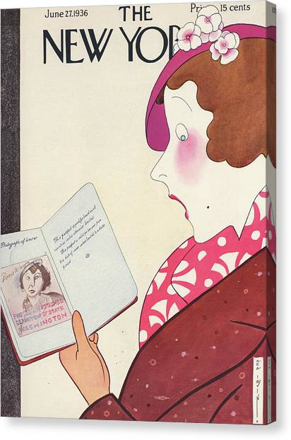 New Yorker June 27th, 1936 Canvas Print