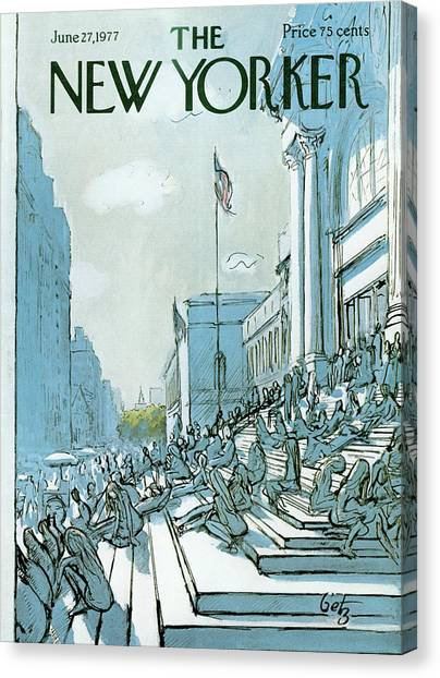 The Metropolitan Museum Of Art Canvas Print - New Yorker June 27th, 1977 by Arthur Getz