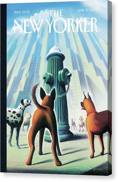 New Yorker June 27th, 2005 Canvas Print by Eric Drooker
