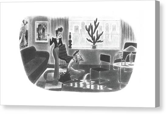 Plumber Canvas Print - New Yorker June 28th, 1941 by Richard Taylor