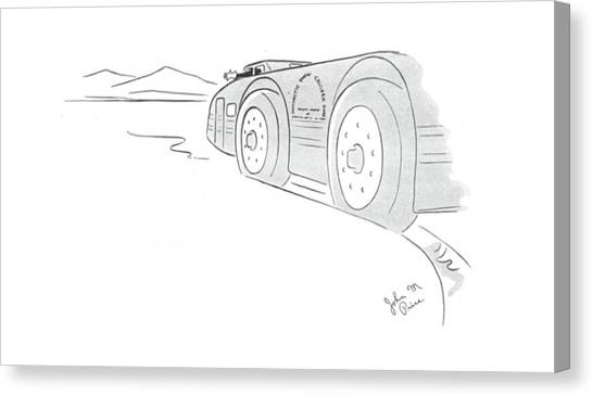 Turn Signals Canvas Print - New Yorker June 8th, 1940 by John M. Price