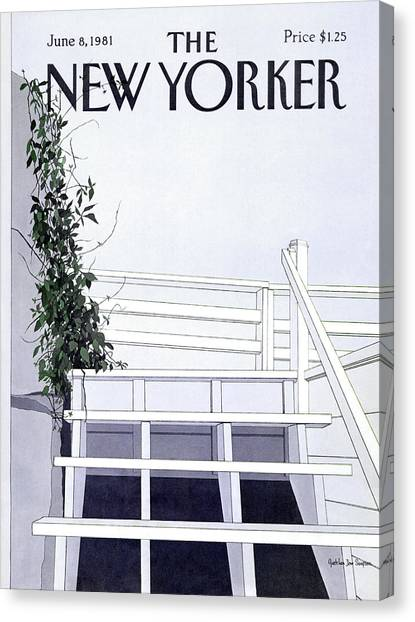 New Yorker June 8th, 1981 Canvas Print by Gretchen Dow Simpson