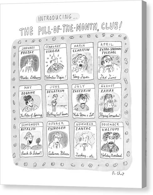 Taxes Canvas Print - New Yorker June 8th, 1998 by Roz Chast