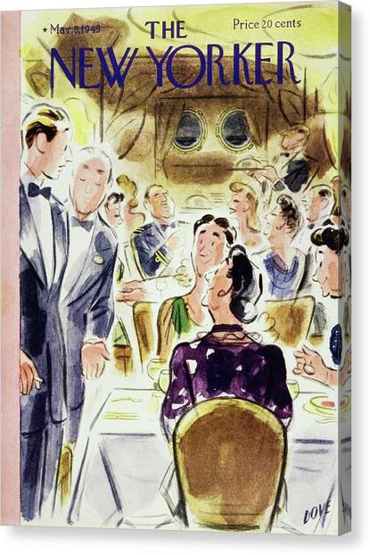 New Yorker Magazine Cover Of People Canvas Print