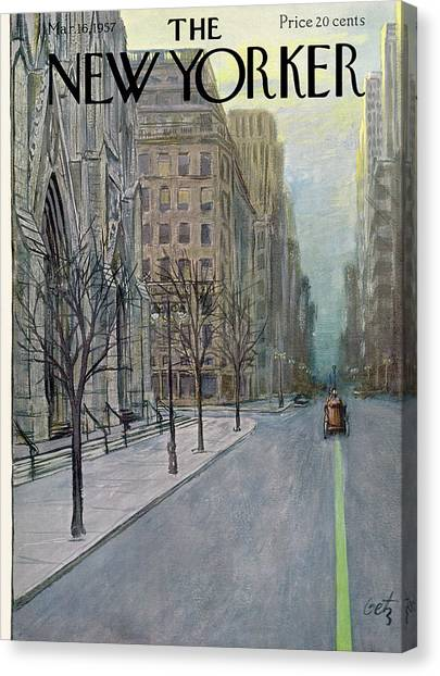 New Yorker March 16th, 1957 Canvas Print