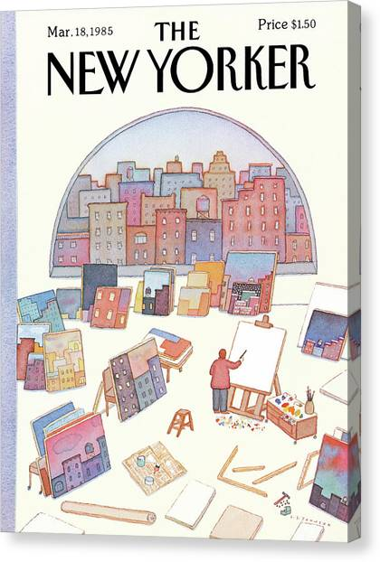 New Yorker March 18th, 1985 Canvas Print