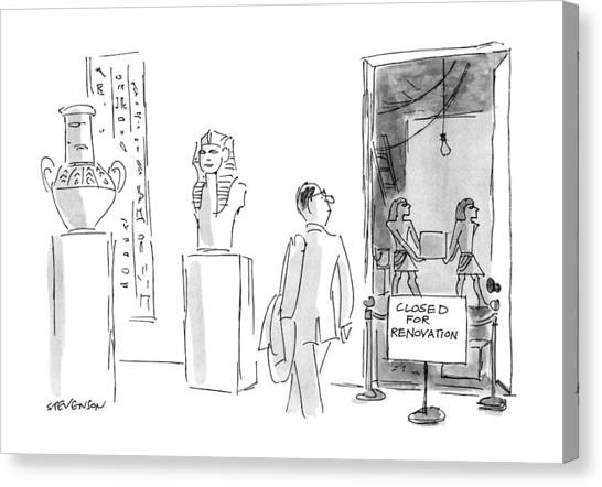 Egyptian Art Canvas Print - New Yorker March 18th, 1991 by James Stevenson