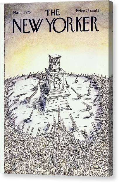 New Yorker March 1st 1976 Canvas Print by Niculae Asciu
