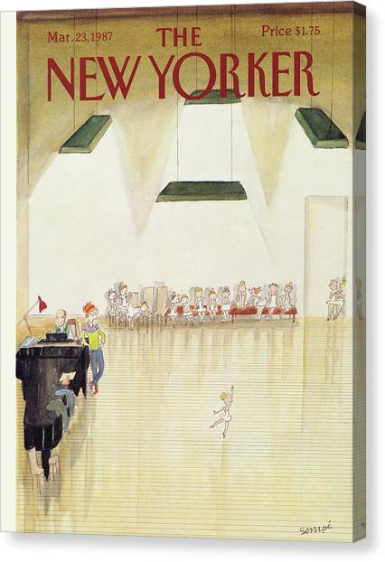 New Yorker March 23rd, 1987 Canvas Print
