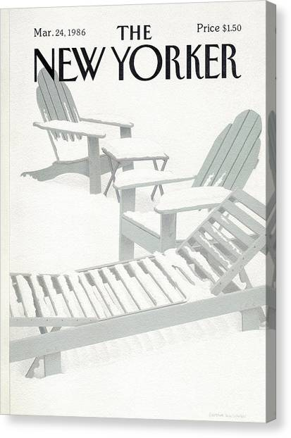 New Yorker March 24th, 1986 Canvas Print by Gretchen Dow Simpson