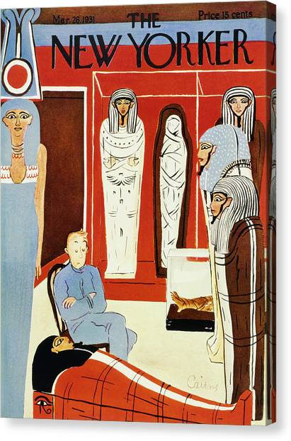 Egyptian Art Canvas Print - New Yorker March 28 1931 by Ruth Cairns