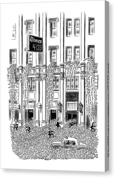 New Yorker March 29th, 1969 Canvas Print