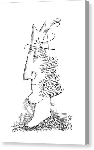 Merging Canvas Print - New Yorker March 30th, 1963 by Saul Steinberg