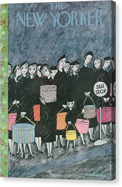New Yorker March 31st, 1956 Canvas Print
