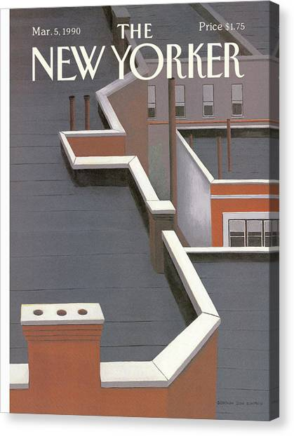 New Yorker March 5th, 1990 Canvas Print by Gretchen Dow Simpson