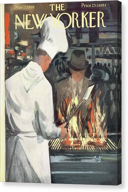 New Yorker March 7th, 1959 Canvas Print