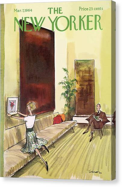 New Yorker March 7th, 1964 Canvas Print