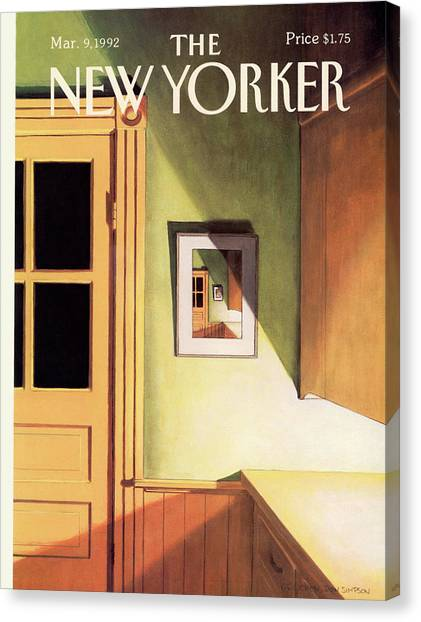 New Yorker March 9th, 1992 Canvas Print by Gretchen Dow Simpson