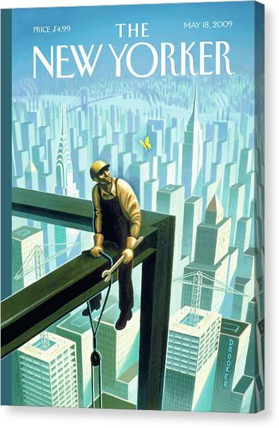 New Yorker May 18th, 2009 Canvas Print by Eric Drooker