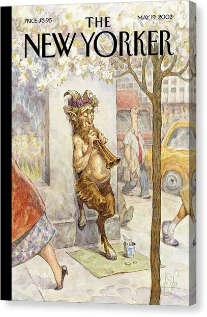 Mythological Creatures Canvas Print - New Yorker May 19th, 2003 by Peter de Seve