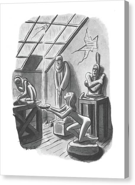 Sculptors Canvas Print - New Yorker May 24th, 1941 by Robert J. Day