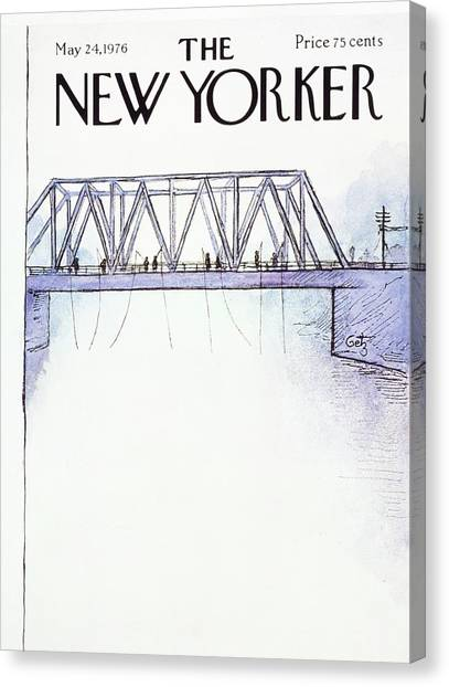 New Yorker May 24th 1976 Canvas Print by Arthur Getz