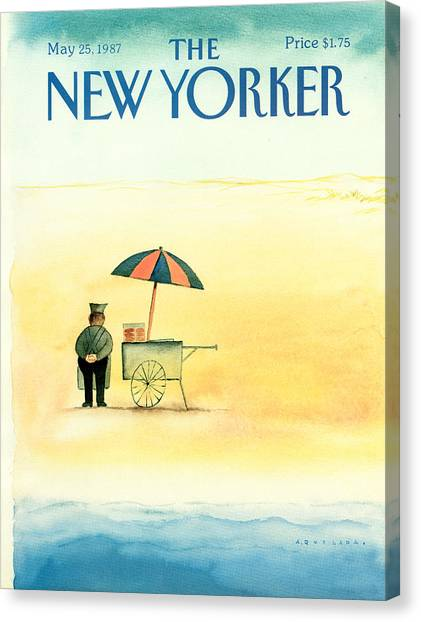 Hot Dogs Canvas Print - New Yorker May 25th, 1987 by Abel Quezada