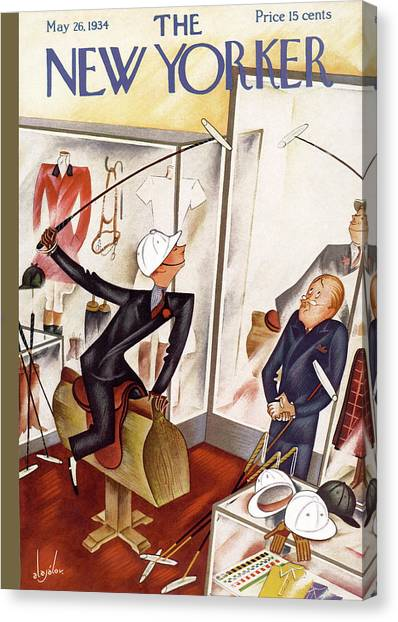 Polo Canvas Print - New Yorker May 26th, 1934 by Constantin Alajalov