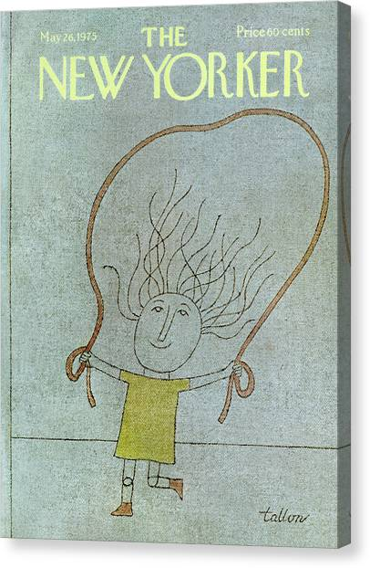 Jump Rope Canvas Print - New Yorker May 26th, 1975 by Robert Tallon