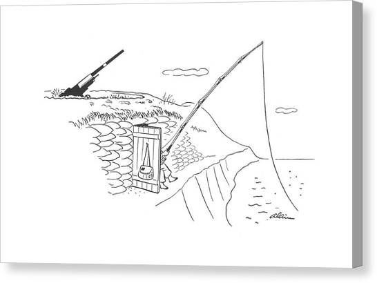 Dugouts Canvas Print - New Yorker May 2nd, 1942 by  Alain