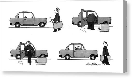 Coat Hanger Canvas Print - New Yorker May 3rd, 1993 by J.B. Handelsman