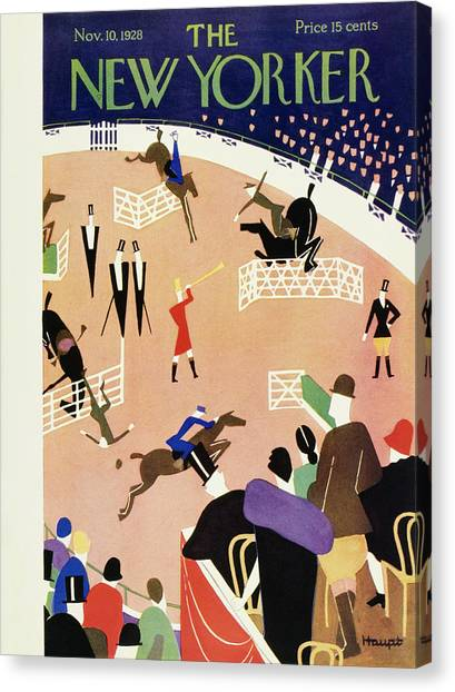 New Yorker November 10 1928 Canvas Print by Theodore G. Haupt