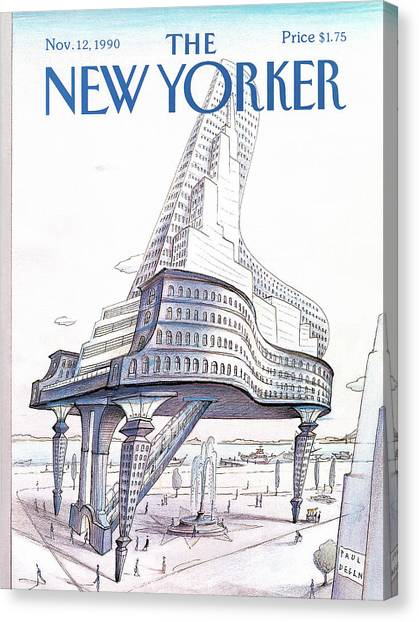 New Yorker November 12th, 1990 Canvas Print