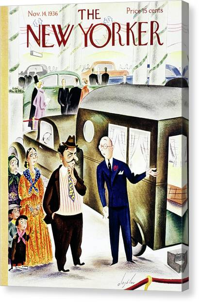New Yorker November 14 1936 Canvas Print by Constantin Alajalov