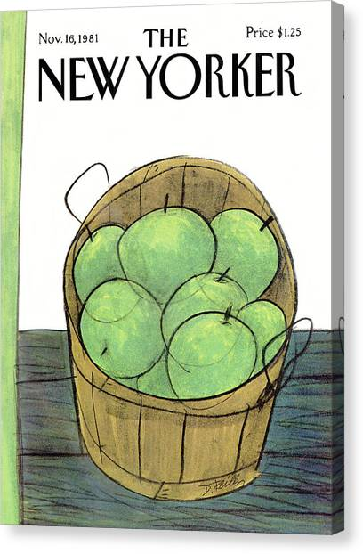 New Yorker November 16th, 1981 Canvas Print