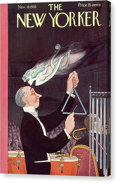 New Yorker November 18th, 1933 Canvas Print by Abner Dean