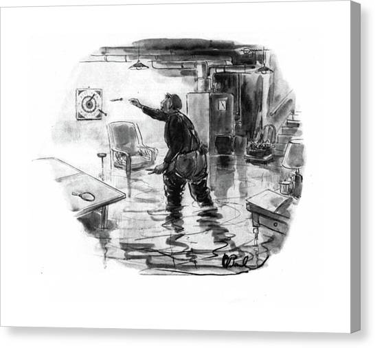 Plumber Canvas Print - New Yorker November 1st, 1941 by Perry Barlow