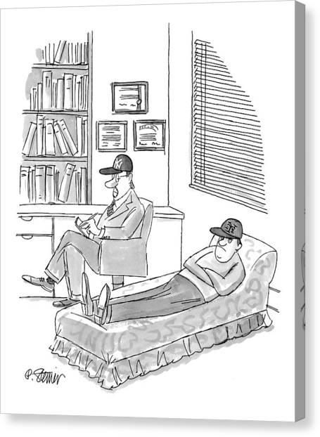 New York Yankees Canvas Print - New Yorker November 1st, 1999 by Peter Steiner