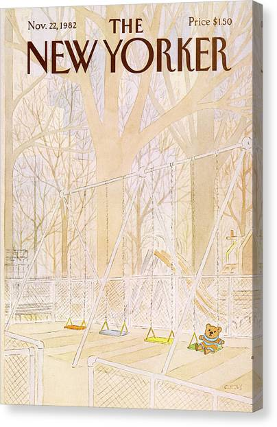 New Yorker November 22nd, 1982 Canvas Print