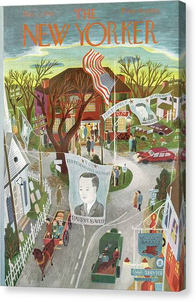 Republican Politicians Canvas Print - New Yorker November 2nd, 1946 by Ilonka Karasz
