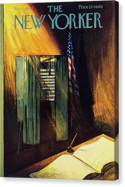 New Yorker November 3rd 1962 Canvas Print by Arthur Getz