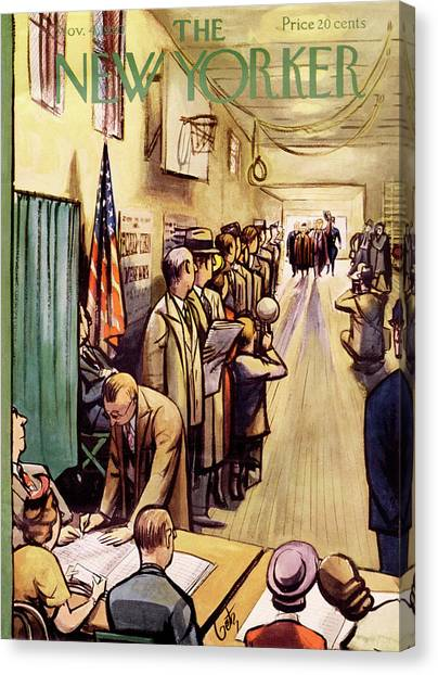 Republican Politicians Canvas Print - New Yorker November 4th, 1950 by Arthur Getz
