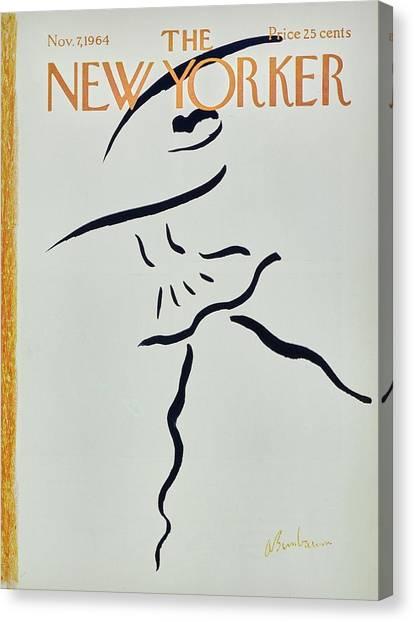 New Yorker November 7th 1964 Canvas Print by Aaron Birnbaum