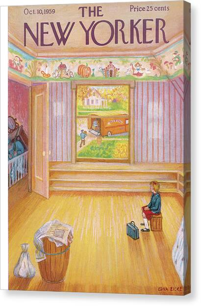 Little Boy Canvas Print - New Yorker October 10th, 1959 by Edna Eicke