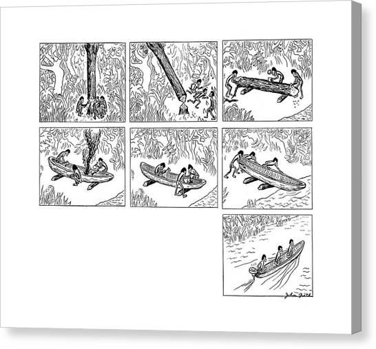 John Boats Canvas Print - New Yorker October 11th, 1941 by John Groth