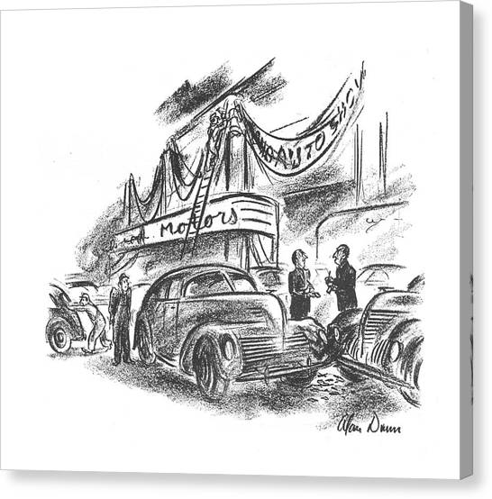 Truck Driver Canvas Print - New Yorker October 12th, 1940 by Alan Dunn
