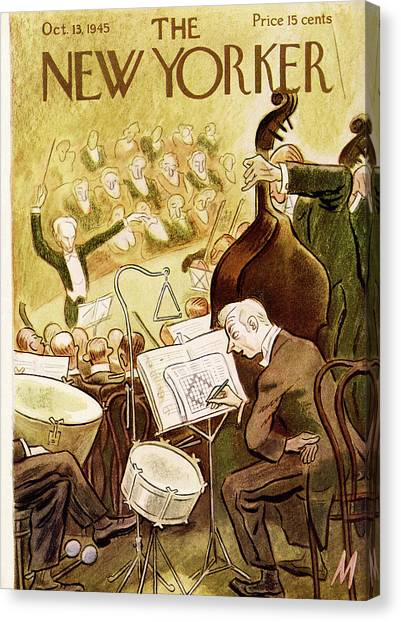 Snares Canvas Print - New Yorker October 13th, 1945 by Julian de Miskey