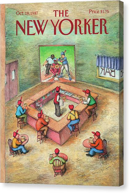 Bartender Canvas Print - New Yorker October 19th, 1987 by John O'Brien