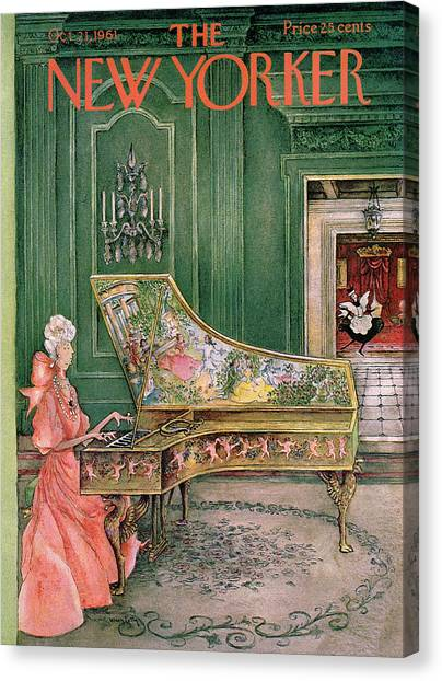 Harpsichords Canvas Print - New Yorker October 21st, 1961 by Mary Petty