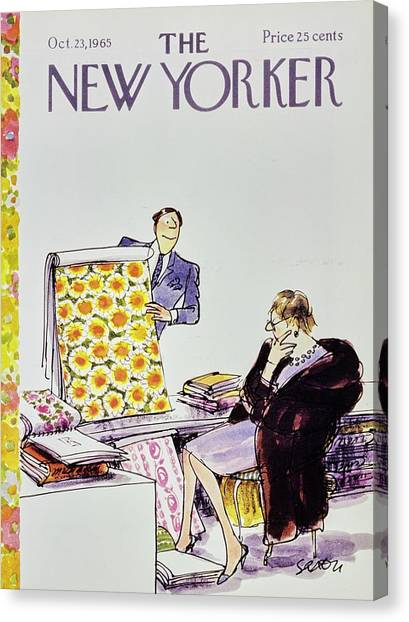 Representation Canvas Print - New Yorker October 23rd 1965 by Charles D Saxon